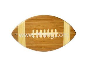 Eco-friendly bamboo football shape cutting board