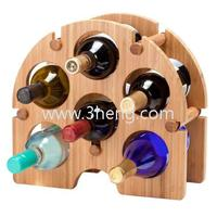 Wholesale 2015 New Styles Bamboo Arch Wine Rack - 6 Bottle Wine Display Holder