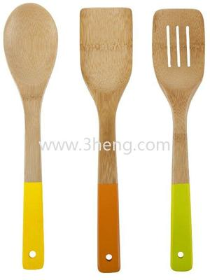 Eco-friendly Bamboo Colorful Essentials Bamboo Utensil Set