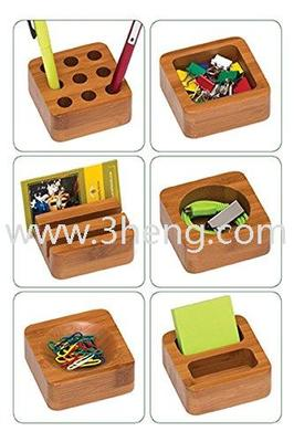 Natural Bamboo 6-Block Desk Set