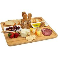 Eco-friendly Bamboo Bread And Cheese Set