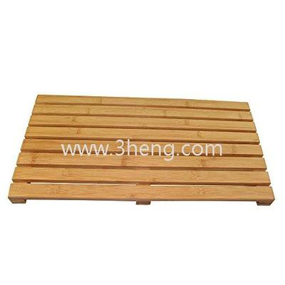 Bamboo Hotel Bathroom Accessories Floor and Shower/Bath Mat-Skid Resistant