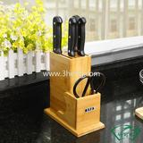 eco-friendly bamboo knife rack for kitchenware bamboo product