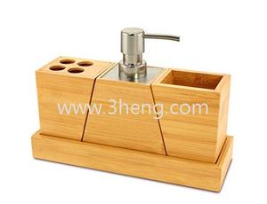 Elegant and Stylish Bamboo Bathroom Set