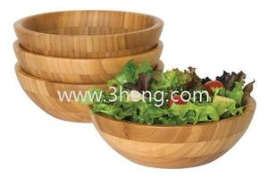 High Quality Bamboo Bowls, Set of 4