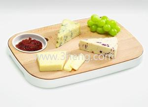 Slice and Serve Reversible Bamboo Bread and Cheese Board