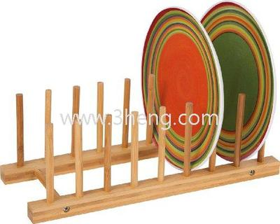 Eco-friendly Bamboo Dish Drying Rack Plate Holder