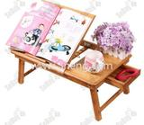 Bamboo Portable Laptop Desk Table Foldable Breakfast Serving Bed Tray