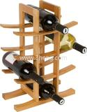 Wholesale 2015 New Styles 12 Bottles Bamboo Wine Display Holder